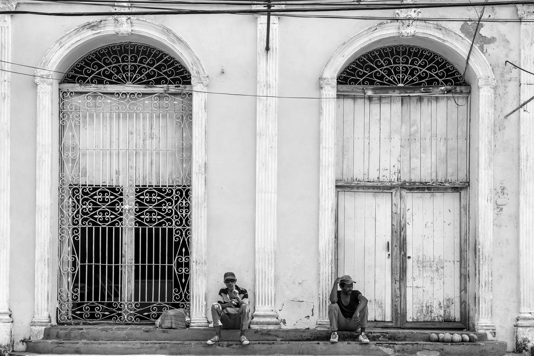 Colorful Cuba in Black And White
